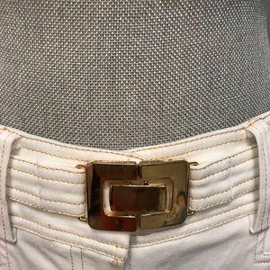 Cache white stretchy shorts 6